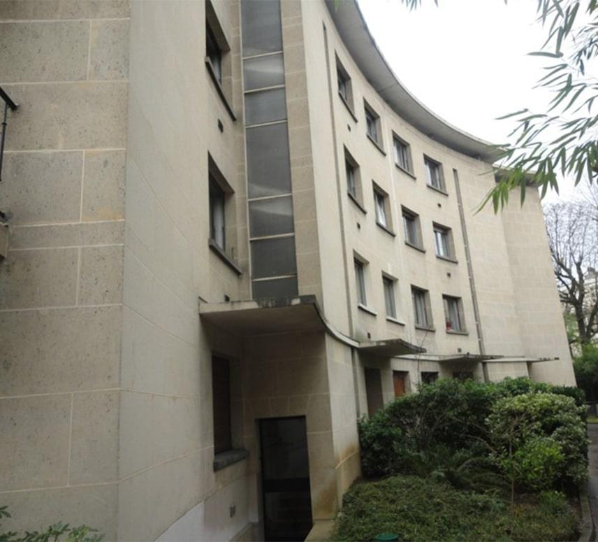 Ravalement-2-4 rue des pavillons-Avant-EuroDecor