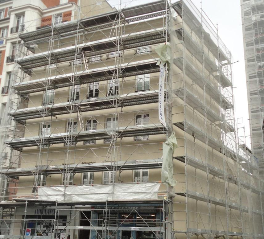 Ravalement-Rue Belleville-En cours-2-EuroDecor